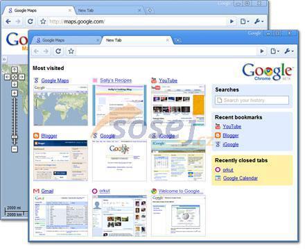 Google Chrome 6.0.437.3 Beta