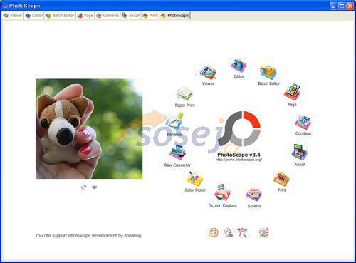 Screenshot programu Photoscape 3.5