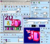 Screenshot programu 2D & 3D Animator 2.1