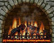 Screenshot programu 3D Realistic Fireplace Screen Saver 3.9.4