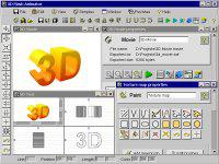 Screenshot programu 3D Flash Animator 4.9.8.7
