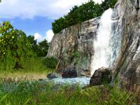Screenshot programu 3D Waterfall Screensaver