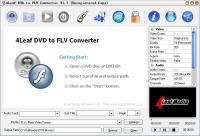 Screenshot programu 4Leaf DVD to FLV Converter 1.7
