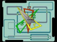 Screenshot programu 7art Radioactive Clock ScreenSaver 1.1