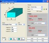 Screenshot programu AVD Volume Calculator 5.3.1