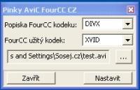 Screenshot programu AVICC CZ 1.0
