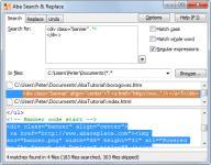 Screenshot programu Aba Search & Replace 2.3