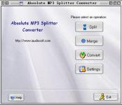 Screenshot programu Absolute MP3 Splitter Converter 3.5.0