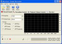 Screenshot programu Absolute Sound Recorder 4.7.0