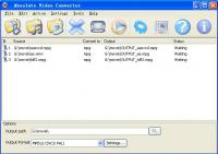 Screenshot programu Absolute Video Converter 4.2.1