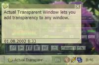 Screenshot programu Actual Transparent Window 8.6.1