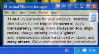 Screenshot programu Actual Window Manager 8.1.4