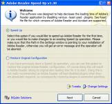 Screenshot programu Adobe Reader SpeedUp 1.36