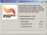 Screenshot programu Adobe Shockwave Player 12.2.1.172