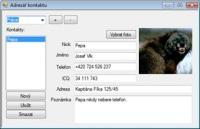 Screenshot programu Adresář pro USB