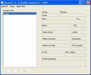 Screenshot programu Adresář 1.0