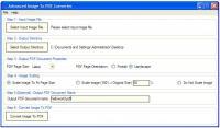 Screenshot programu Advanced Image To PDF Converter 1.10