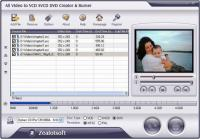 Screenshot programu All Video to VCD SVCD DVD Creator & Burner 4.6.0