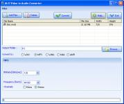 Screenshot programu ALO Video to Audio Converter 2.4