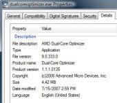 Screenshot programu AMD Dual-core Optimizer 1.1.4