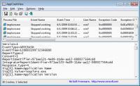 Screenshot programu AppCrashView 1.25