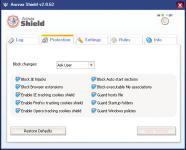 Screenshot programu Arovax Shield 2.1.95