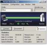 Screenshot programu Astaro Secure Client 8.30