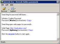 Screenshot programu Asterisk Key 10.0