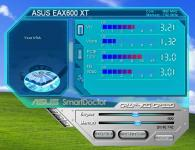 Screenshot programu ASUS SmartDoctor 5.52
