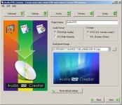 Screenshot programu Audio DVD Creator 1.9.1.0