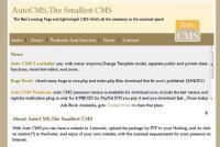 Screenshot programu Auto CMS 2