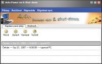 Screenshot programu Auto Poweron & Shutdown čeština 2.10