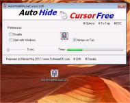 Screenshot programu AutoHideMouseCursor 1.52