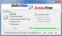 Screenshot programu AutoHideDesktopIcons 2.75