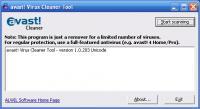 Screenshot programu avast! Virus Cleaner 1.0.211