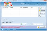 Screenshot programu Axommsoft PDF Restrictions Remover 1.3