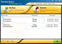 Screenshot programu BackUp Maker Standard Edition 7.102