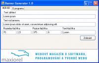 Screenshot programu Banner Generator 1.0