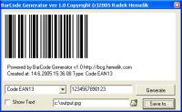 Screenshot programu BarCode Generator 1.1122