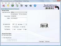 Screenshot programu Barcode Label Generator and Printing Software 2.3.0.6