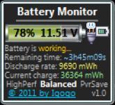 Screenshot programu Battery Monitor 4.9