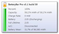 Screenshot programu BatteryBar 3.5.4