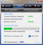 Screenshot programu BatteryCare 0.9.26.0 Portable
