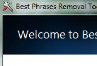 Screenshot programu Best Phrases Removal Tool 1.0