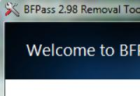 Screenshot programu BFPass 2.98 Removal Tool 1.0
