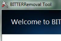 Screenshot programu BITTER Removal Tool 1.0