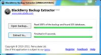 Screenshot programu BlackBerry Backup Extractor 0.100