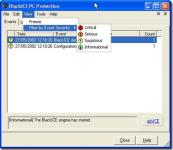Screenshot programu BlackICE PC Protection 3.6 crh