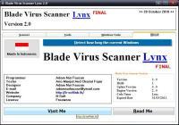 Screenshot programu Blade Virus Scanner 3.0