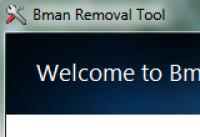 Screenshot programu Bman Removal Tool 1.0